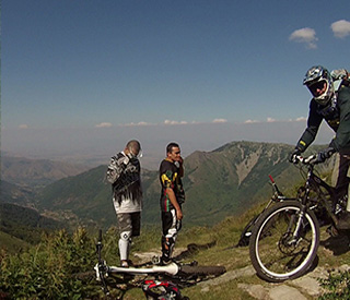 View from pelister on the extreme biking tour